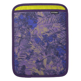 Camouflage against blue flower iPad sleeve