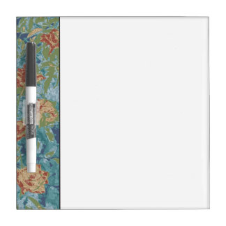 Camouflage and flowers dry erase board