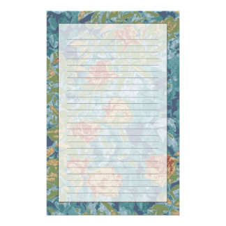 Camouflage and flowers stationery