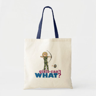 Camouflage Archery Girl - Blonde Tote Bag