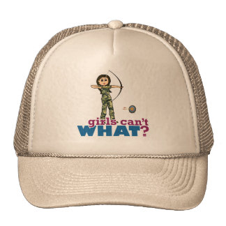 Camouflage Archery Girl - Light Cap