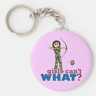 Camouflage Archery Girl - Light Key Ring