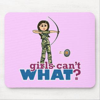 Camouflage Archery Girl - Light Mousepads
