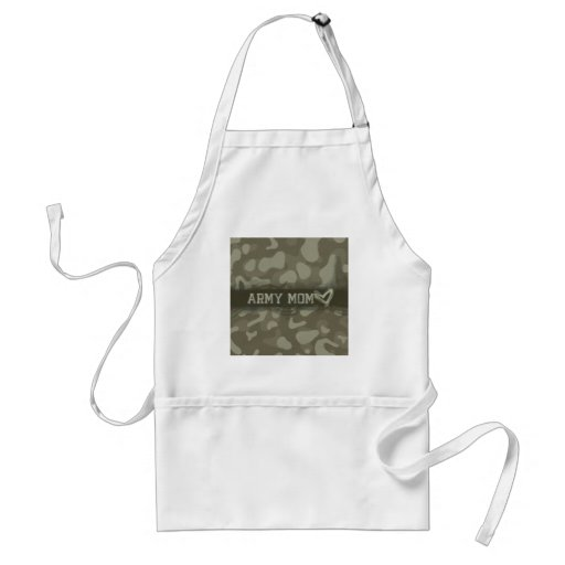 Camouflage Army Mum Heart of Love Standard Apron