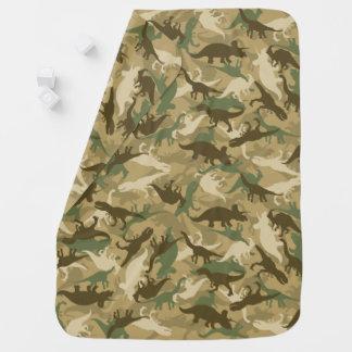 Camouflage Baby Blanket in Dinosaur Pattern