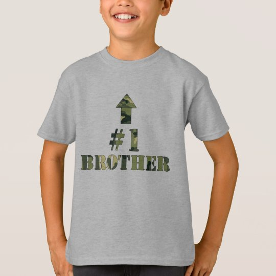 Camouflage Big Brother shirt / I'm the #1