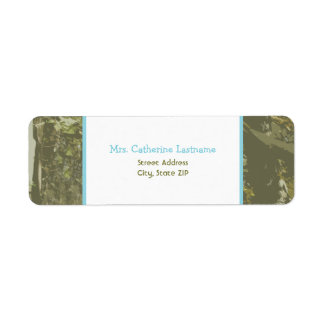Camouflage & Blue Baby Shower Address Label