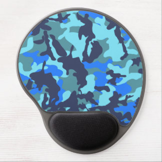 Camouflage Blue Gel Mouse Pad