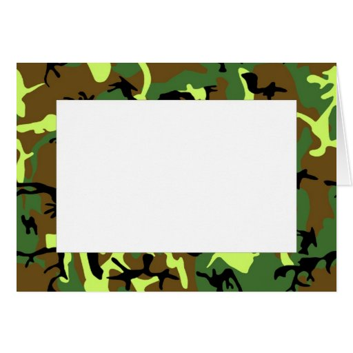 Camouflage Border Note Card | Zazzle