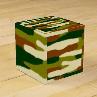 Camouflage Browns and Greens Favour Box