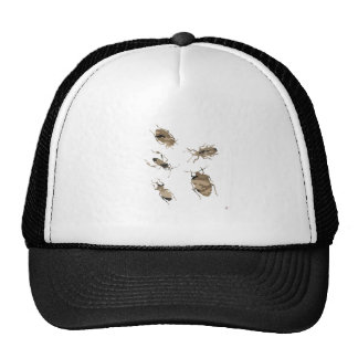 Camouflage Bugs Silhouette Trucker Hats