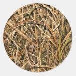 Camouflage By john Round Sticker