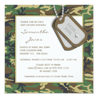 Camouflage / Camo Baby Boy Shower Invite