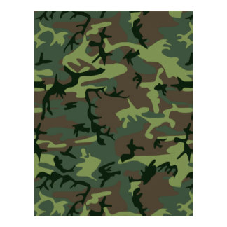 Camouflage Camo Green Brown Pattern 21.5 Cm X 28 Cm Flyer