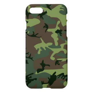 Camouflage Camo Green Brown Pattern iPhone 8/7 Case