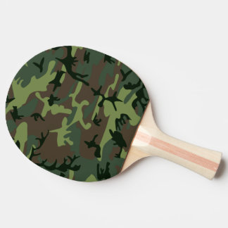 Camouflage Camo Green Brown Pattern Ping Pong Paddle