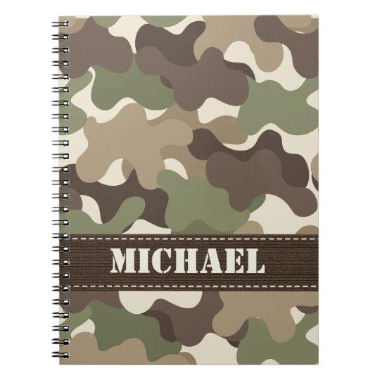 Camouflage Camo Spiral Notebook Journal