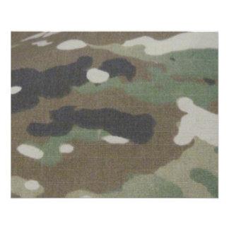 Camouflage Camo uniform fatigues office 11.5 Cm X 14 Cm Flyer