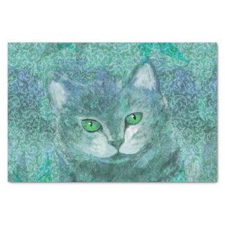 Camouflage Cat Nature Garden Tissue Paper