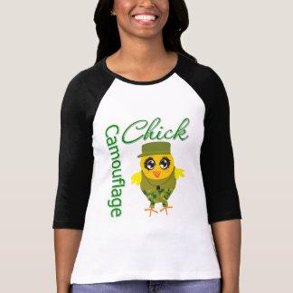 Camouflage Chick Tee Shirts