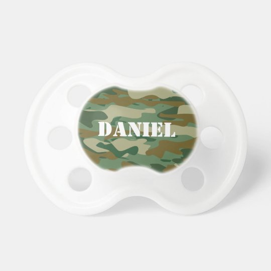 Camouflage colour pattern design baby pacifier