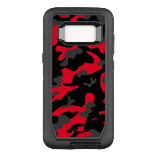 Camouflage Como Army Military Print Orange OtterBox Defender Samsung Galaxy S8 Case