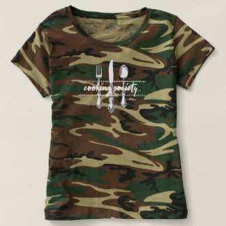 Camouflage Cooking Society T-shirt