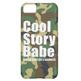 Camouflage Cool Story Babe iPhone 5C Case