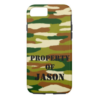 Camouflage Custom Name iPhone 8/7 Case