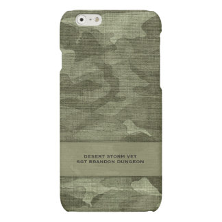 Camouflage Custom Name Military or Hunting iPhone 6 Plus Case