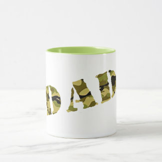 camouflage dad design camo father's day gift idea mug