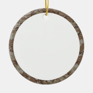 Camouflage Desert Background Template Round Ceramic Decoration
