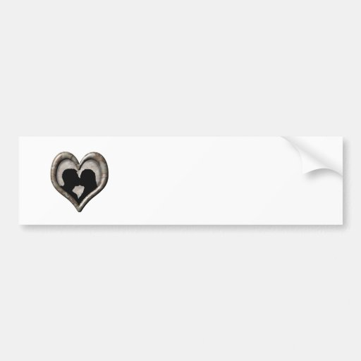 Camouflage Desert Heart -Kissing Couple Silhouette Bumper Sticker