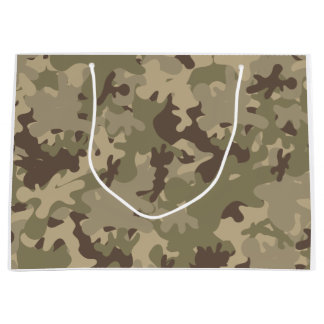 Camouflage design large gift bag