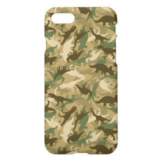 Camouflage Dinosaur Smart Phone Case Glossy Matte