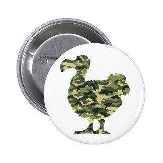 Camouflage Dodo Bird Silhouette 6 Cm Round Badge