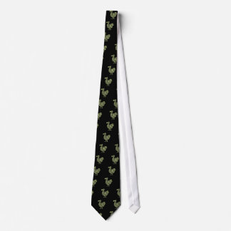 Camouflage Dodo Bird Silhouette Tie