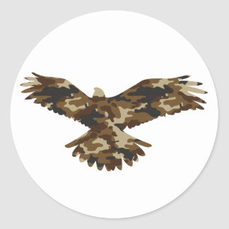 Camouflage Eagle Silhouette Stickers