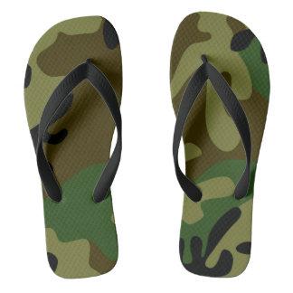 Camouflage Footwear Flip Flops