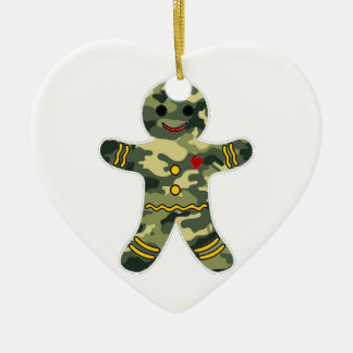 Camouflage Gingerbread Man Christmas Ornament