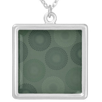 Camouflage Green Lace Doily Pendants
