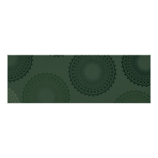 Camouflage Green Lace Doily Poster