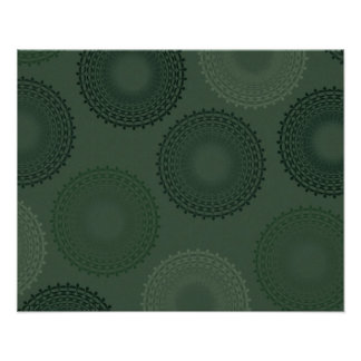 Camouflage Green Lace Doily Print