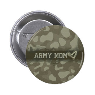 Camouflage Grunge Army Mom Love Pinback Button