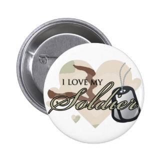 Camouflage Heart 6 Cm Round Badge