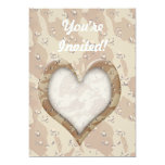 "Camouflage Heart - Desert 5"" X 7"" Invitation Card"