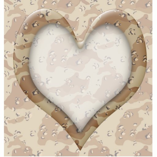 Camouflage Heart - Desert Cut Outs