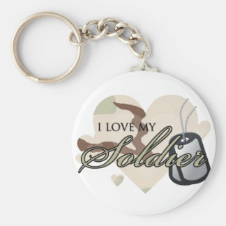 Camouflage Heart Key Ring