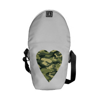 Camouflage Heart Commuter Bag