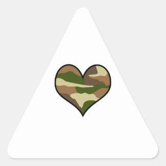 CAMOUFLAGE HEART TRIANGLE STICKER